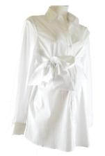 Smart white maternity shirt/ white office maternity shirt sizes 8, 10, 12,14,16