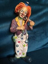 Vintage Hand Carved Wooden Clown Figurine