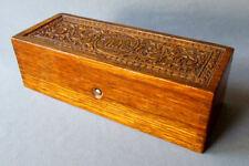 Antique W&W Wheeler & Wilson GOLDEN OAK Sewing Machine WOODEN ACCESSORY BOX