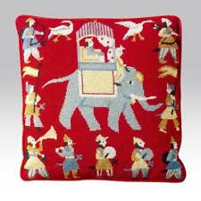 EHRMAN RED INDIAN ELEPHANT ANITA GUNNETT TAPESTRY NEEDLEPOINT KIT - DISCONTINUED