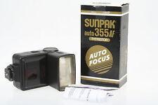 Sunpak Auto 355AF, Aufsteckblitzgerät für analoge EOS Kameras, in OVP
