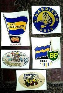 5 x PARRAMATTA EELS Vinyl Sticker Decal NRL  rugby league