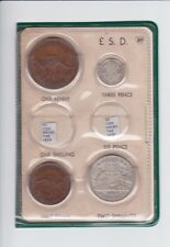 1947 Pre Decimal Coin Year Set in BP Oil Wallet Birthday Baby Birth Year  F-609