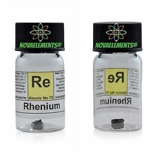 Rhenium metal element 75 sample >0,5g 99,99% solid piece in labeled glass vial