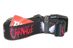 "Buckle-Down 9-15"" Spider-man Carnage Dog Collar Plastic Clip"