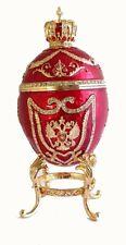 Copie oeuf Fabergé rouge