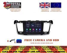 AUTORADIO DVD GPS NAVI ANDROID 9.0 4GB RAM DAB BLUETOOTH WIFI PEUGEOT 508 RV5637