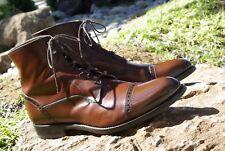 Antonio Maurizi Captoe Brogue Boots Size 8 US Cognac Leather