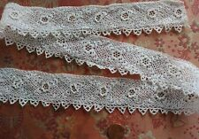 """All Roses 1.5"""" wide IRISH CROCHET LACE hand made 30"""""""