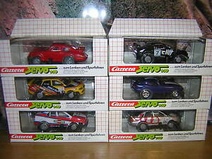(J 4-8) Carrera Servo 140 Autos Audi Alfa Dodge Porsche Opel NEU / OVP