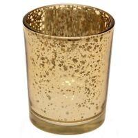 24 X Gold Tea Light Holder Mercury Glass Candle Votive Vintage Wedding Decor