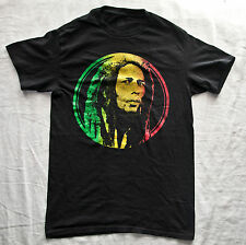 BOB MARLEY REGGAE ROOTS MUSIC LEGEND T Shirt (Graphic Tee) Black Small Cotton