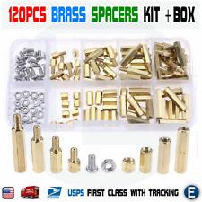 120pcs M3 Male Female Brass Hex Column Standoff Support Spacer Pillar Box Case
