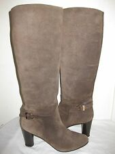Salvatore Ferragamo  Suede Brown Tall Boots Shoes Size 10 B