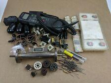 Large Assorted Vintage Electronics Lot Resistors Capacitors Tube Sockets Relays