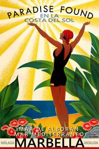 Marbella Costa Del Sol Spain Andalusia Mediterranean Travel Poster Art Print 314