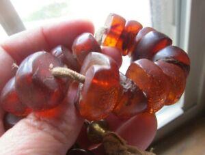 Antique 1920s Natural HONEY AMBER PRAYER BEADS 57 Grams ESTATE