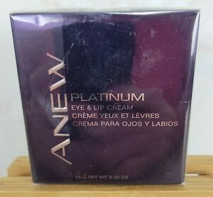 AVON ANEW PLATINUM Eye & Lip Cream 0.50 OZ New In Box Sealed New old Stock