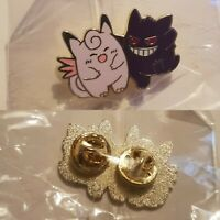 POKEMON GENGAR CLEFAIRY pin BROOCH super cute fast free UK p&p 2PCS SET