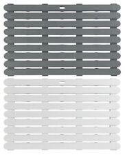 Wenko Plastic Duckboard 80 x 50 cm | Grey, White