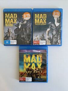 Mad Max 3x Bluray Movies The Road Warrior Beyond Thunderdome Fury Road Free Post
