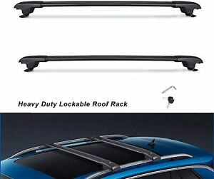 BLACK 260KG Lockable Adjustment Roof Racks Cross Bars For SUBARU FORESTER 08-21