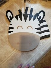 New Zebra Face Wooden Wall Decor Cute for Kids' Rooms!