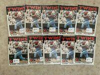 Topps 1986 #329 Kirby Puckett - Minnesota Twins   10 Card Lot   HOF
