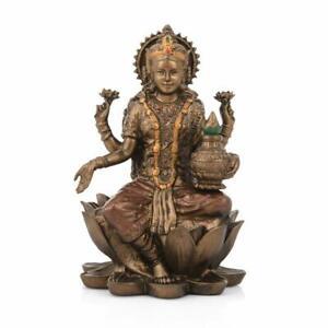 Collectible India Goddess Lakshmi Idol Hindu Laxmi Statue Home Office Decor