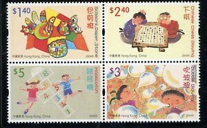Hong Kong Scott #1091a MNH BLOCK Children's Games and Activities CV$4+ ISH-1