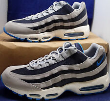 2012 Nike Air Max 95 Wolf Grey Blue Glow Dark Obsidian White SZ 13 (609048-094)