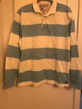 Polo Ralph Lauren Rugby Shirt Mens Size Large Blue  White Striped