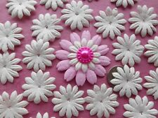 "100! Mulberry Paper Flower Petal Blossom - Lovely Creamy White Daisy - 2.5cm/1"""