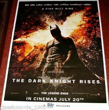 "THE DARK KNIGHT RISES 27"" X 37"" POSTER # 2 CHRISTIAN BALE MICHAEL CAINE"