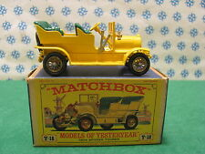 Vintage  -  SPYKER  TOURER  1904  GS    -   Matchbox  Y-16     Mint  box