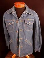 VINTAGE 1970'S V STITCH LONG WRANGLER DENIM JACKET