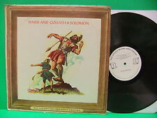 David And Goliath / Solomon The Golden Record Bible Library 60's LP 7 Great Cvr