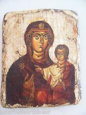 Ancienne peinture religieuse ICONE 17-19èmes