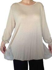 Damenblusen,-Tops & -Shirts im Blusen-Stil ohne Kragen und Viskose für Party