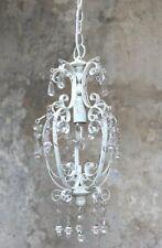 Kronleuchter Lüster Hängelampe Creme Weiß Vintage Landhaus shabby Deckenlampe