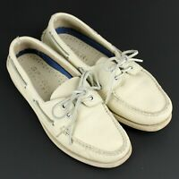 SPERRY Top-Sider Boat Shoes Mens Size US 8 Wide Ivory Leather 0195149