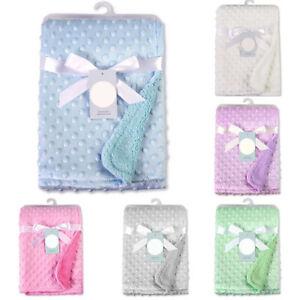 Personalised Baby Blanket Soft Fleece Bubble Newborn Gift Lunch Break Blanket