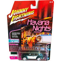 JOHNNY LIGHTNING JLCP7097 HAVANA NIGHTS 1965 VOLKSWAGEN BEETLE 1/64 JAVA GREEN