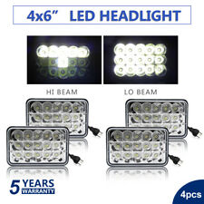 "4""x6"" LED Headlights CREE Light Bulbs Replace H4656/4651 Sealed Headlamp (Set 4)"