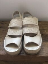 Kickers Ivory White Leather Chunky Sandals Uk 8