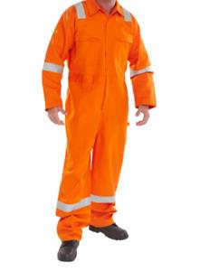 Click Fire Retardant Anti Static ERSKINE B/SUIT Orange - Size 42'' chest