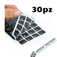 30 pz Stickers adesivi Layout Italiano per tastiera Notebook/Netbook tasti neri