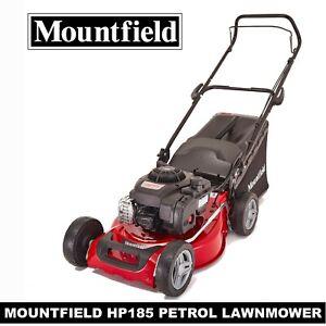 EX MOUNTFIELD PETROL LAWNMOWER HP185 HAND PROPELLED 46CM BLADE 60L GRASS BOX