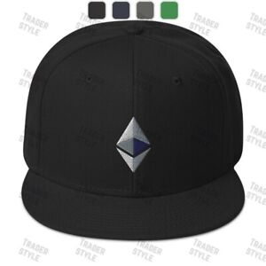 Ethereum Baseball Cap ETH crypto trading trader gift embroidery hat