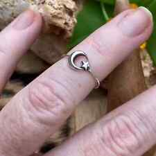 Sterling silver Moon And Star Toe Ring
